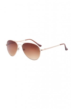 Aviator Sunglasses Brown