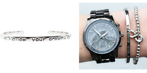 Follow your dreams armband zilver the musthaves
