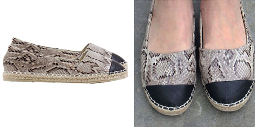 Snake Espadrilles The Musthaves