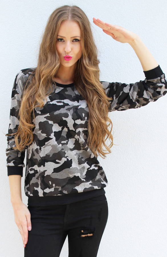 Legerprint Trui Dames.Camouflage Trui The Musthaves
