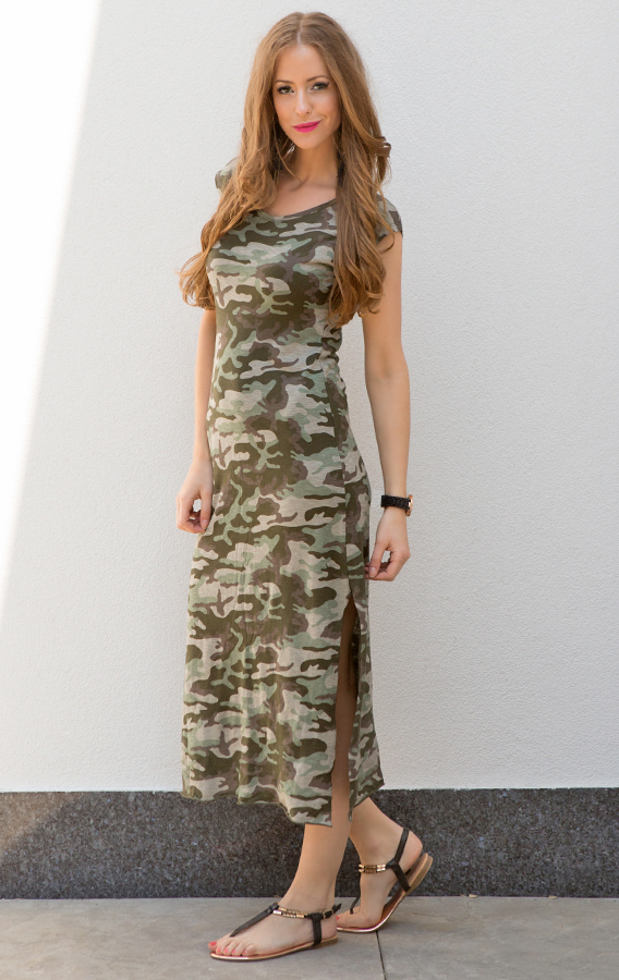 Legerprint Trui Dames.Camouflage Jurk Dames The Musthaves