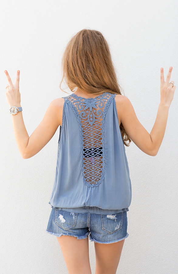 ibiza top met open rug
