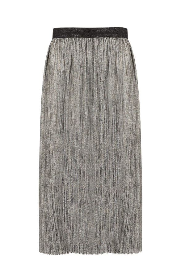 Plisse Skirt Metallic