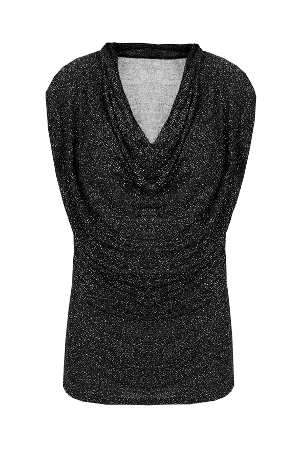 Shine Layers Top Black