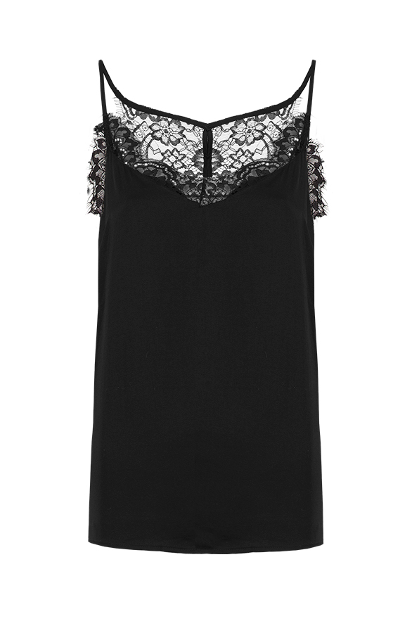 All About Lace Top Black