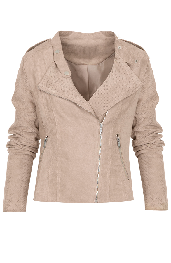 Suede Jacket Limited Beige
