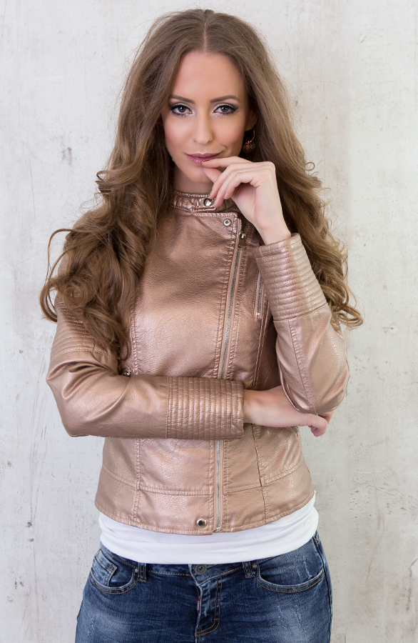 biker jacket metallic